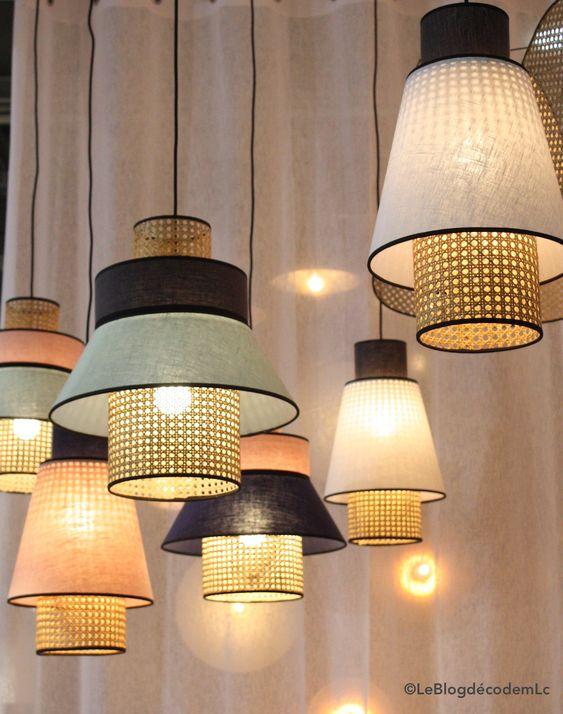 lampes rotin